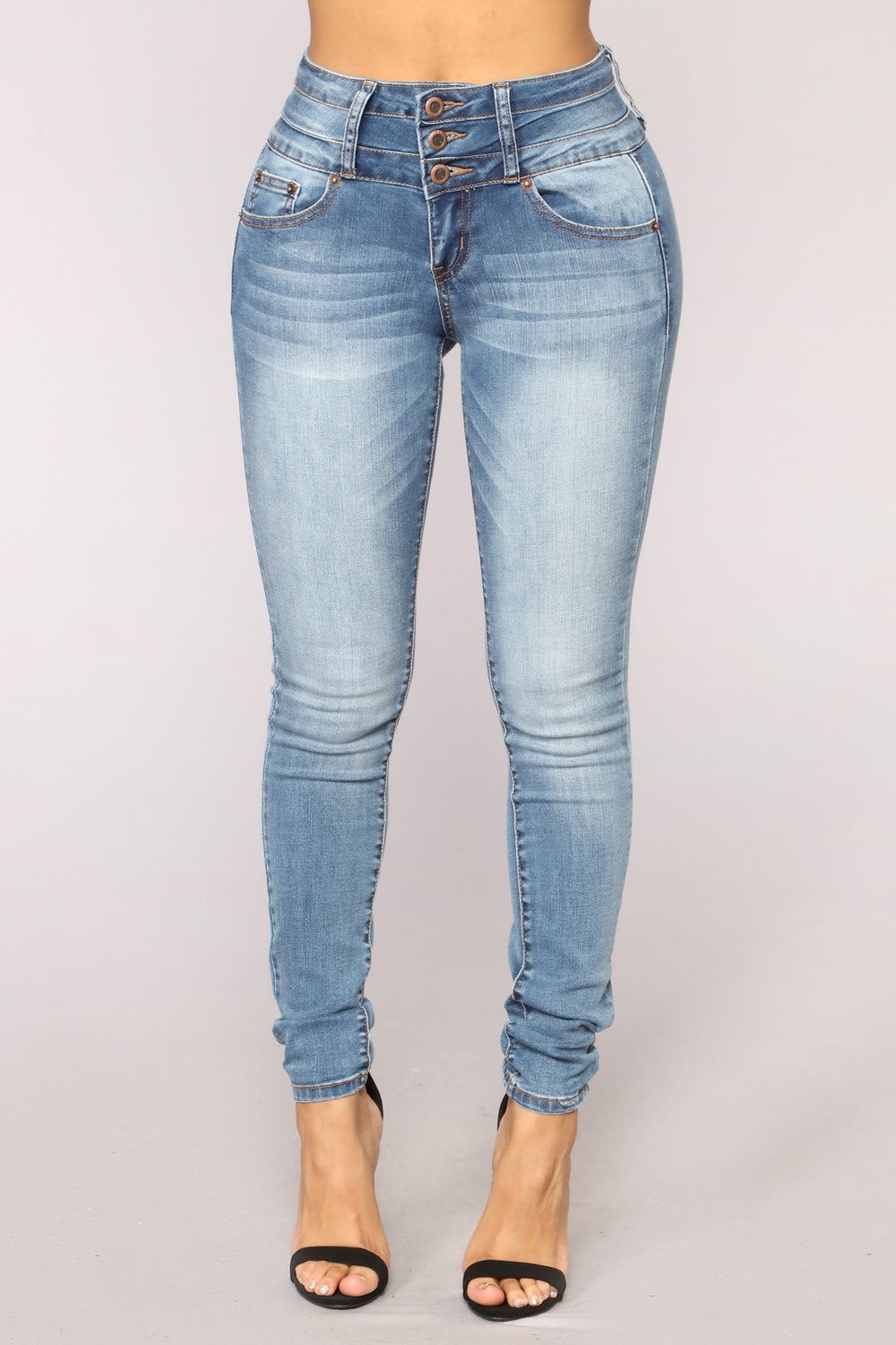 Odds Stacked Against Me Jeans - Medium Blue Wash
