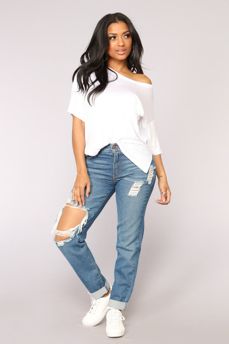 All My Friends Boyfriend Jeans - Dark Denim