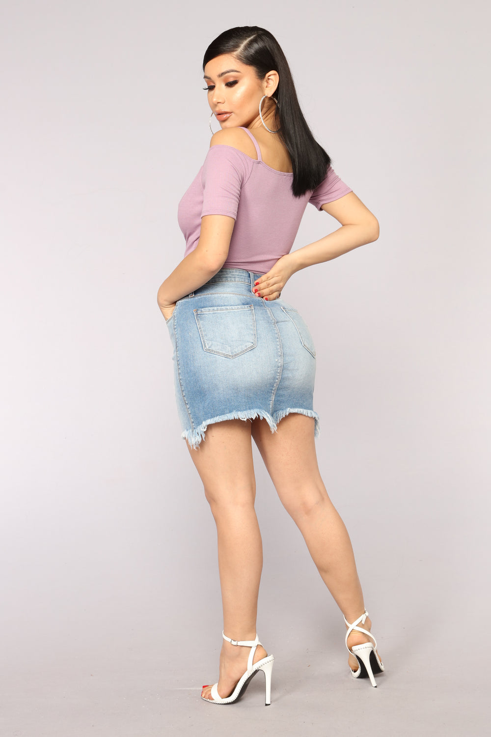 Bella Denim Mini Skirt - Medium Blue Wash
