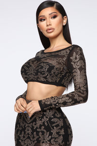 Got To Shine Skirt Set - Black Angle 5