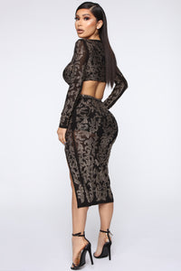 Got To Shine Skirt Set - Black Angle 7
