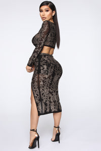 Got To Shine Skirt Set - Black Angle 4