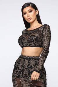 Got To Shine Skirt Set - Black Angle 2