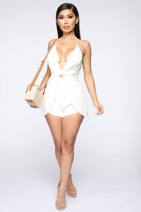 Knot One To Let Go Halter Romper - White