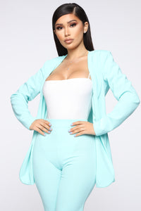Payin' It Forward Blazer Set - Mint