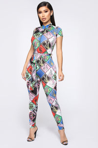 Get With It Jumpsuit - Multi