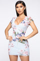 Sugar Crave Floral Dress - Light Blue