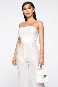 Tia Tube Jumpsuit - White