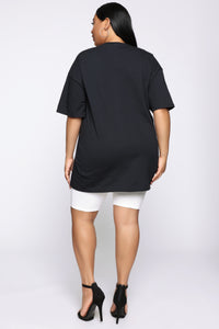 Independent Women Tunic Top - Black