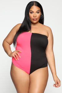 Ride With You Bodysuit - Neon Pink