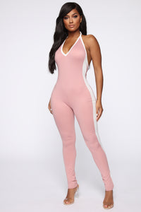 Common Grounds Jumpsuit - Blush