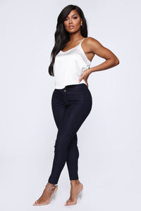 Get It Right Skinny Pants - Navy