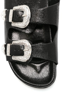 Fun And Games Buckle Sandal - Black