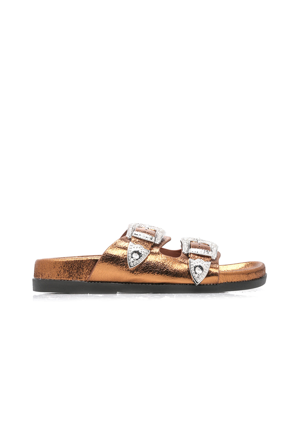 Fun And Games Buckle Sandal - Bronze