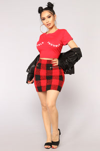 Emma Mini Skirt - Red