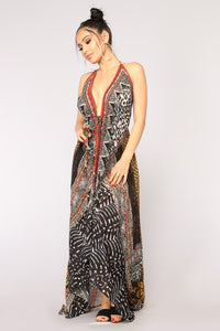 Sunkissed Skin Cover Up - Black/Multi