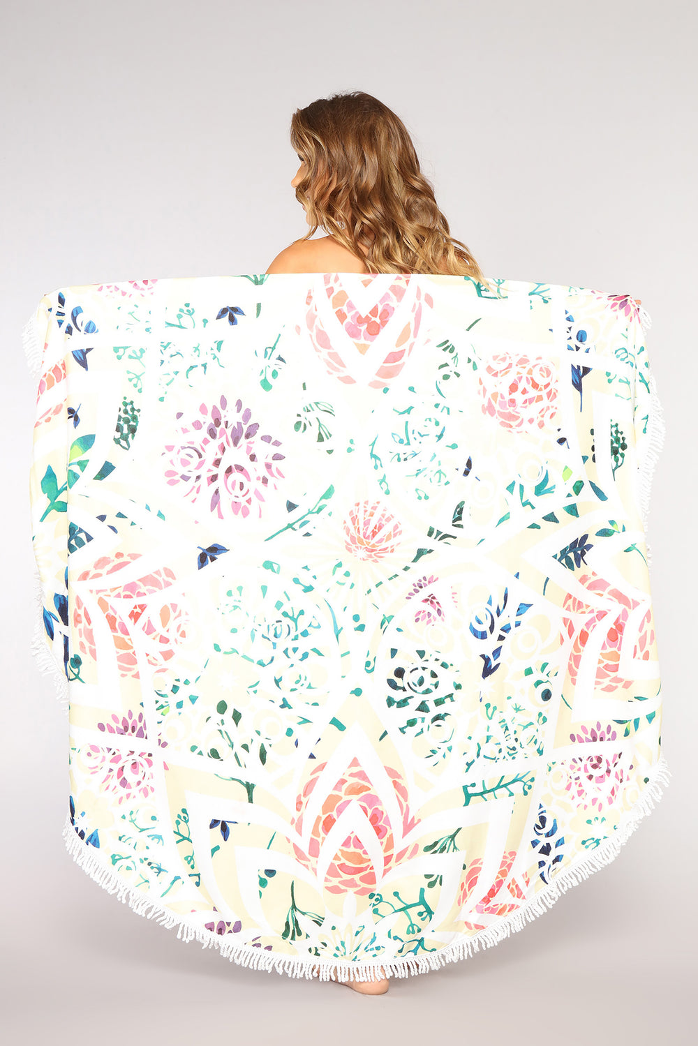 Sweet Wonderland Beach Towel - White/Multi