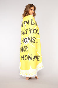 Lemonade Beach Towel - Yellow