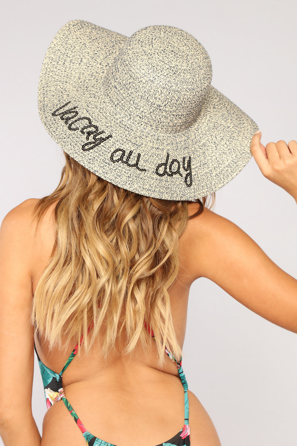 Vacay All Day Sun Hat - Navy