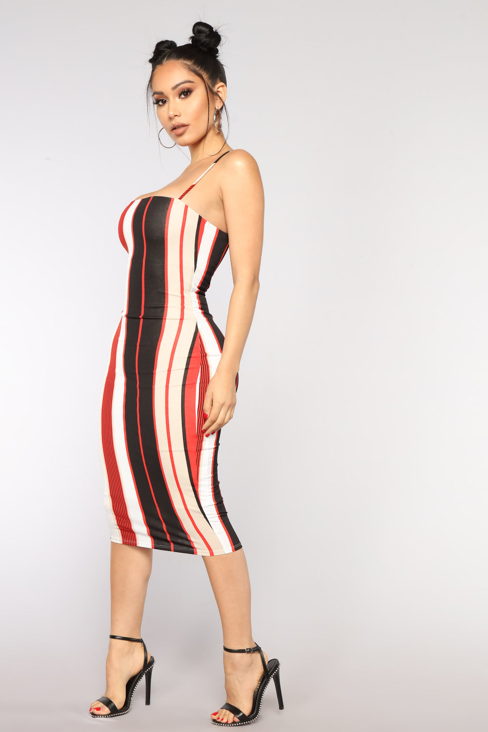 Ezy Rider Striped Dress - Red