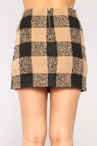 Emma Mini Skirt - Camel