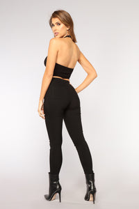 Sunshine High Rise Skinny Jeans - Black