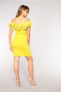 Stay Off My Mind Dress - Mustard