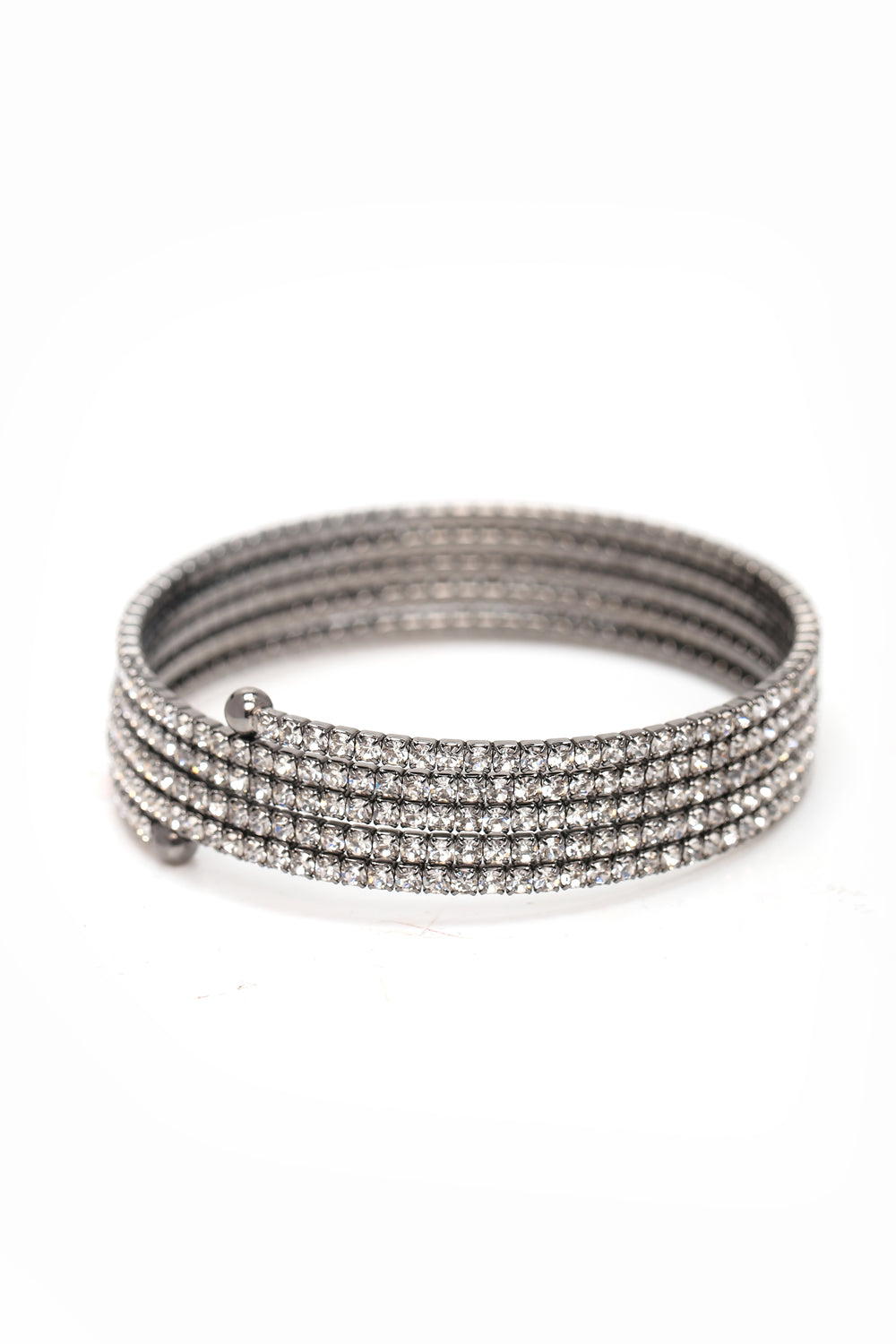 Round And Round Bracelet - Gunmetal