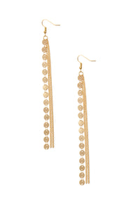 Chain Down Low Earrings - Gold