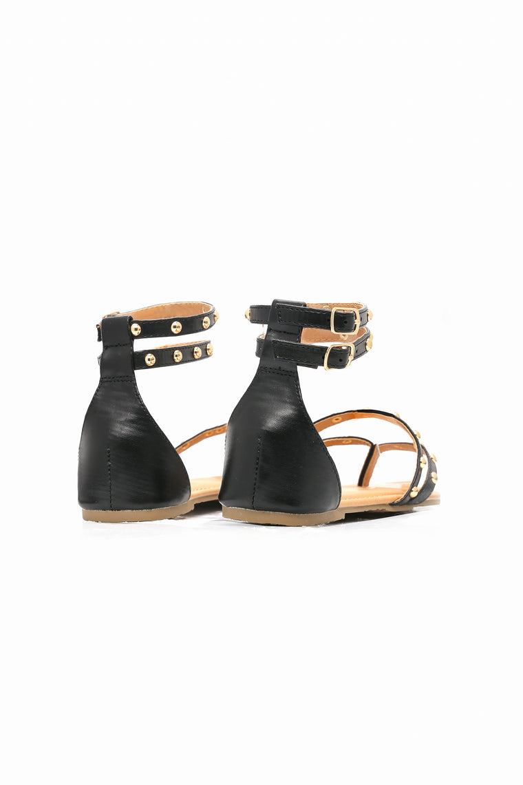Everything You Say Sandal - Black
