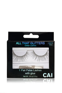All That Glitters Glitter Lashes - Silver