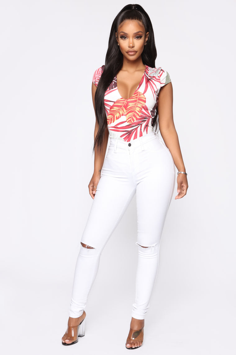 Vacation Ready Bodysuit - White/Combo