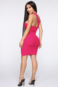 Seduce Me Mini Dress - Hot Pink