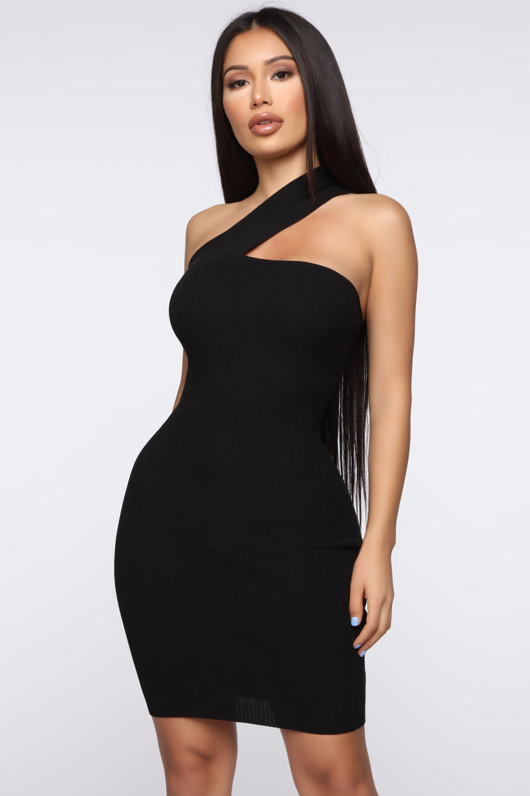 Seduce Me Mini Dress - Black