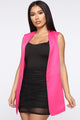 Mind Your Business Vest - Fuchsia