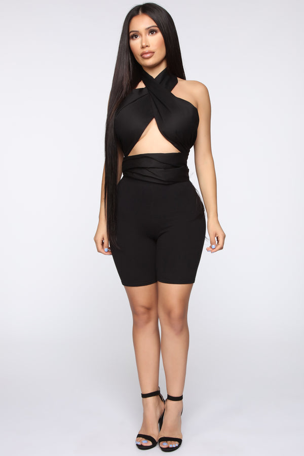 d6c73a9b9c046f Wrap Your Head Around This Top - Black