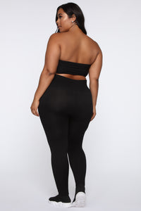 Keep It Right Seamless Leggings - Black Angle 5