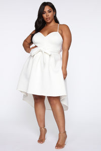 Just A Kiss High Low Dress - White Angle 5