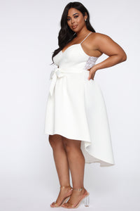 Just A Kiss High Low Dress - White Angle 8