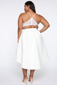 Just A Kiss High Low Dress - White Angle 6
