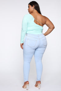 All Of A Sudden Bodysuit - Mint Angle 13