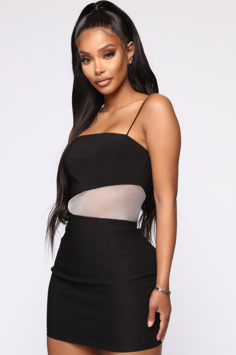 Stop And Stare Bodysuit - Black