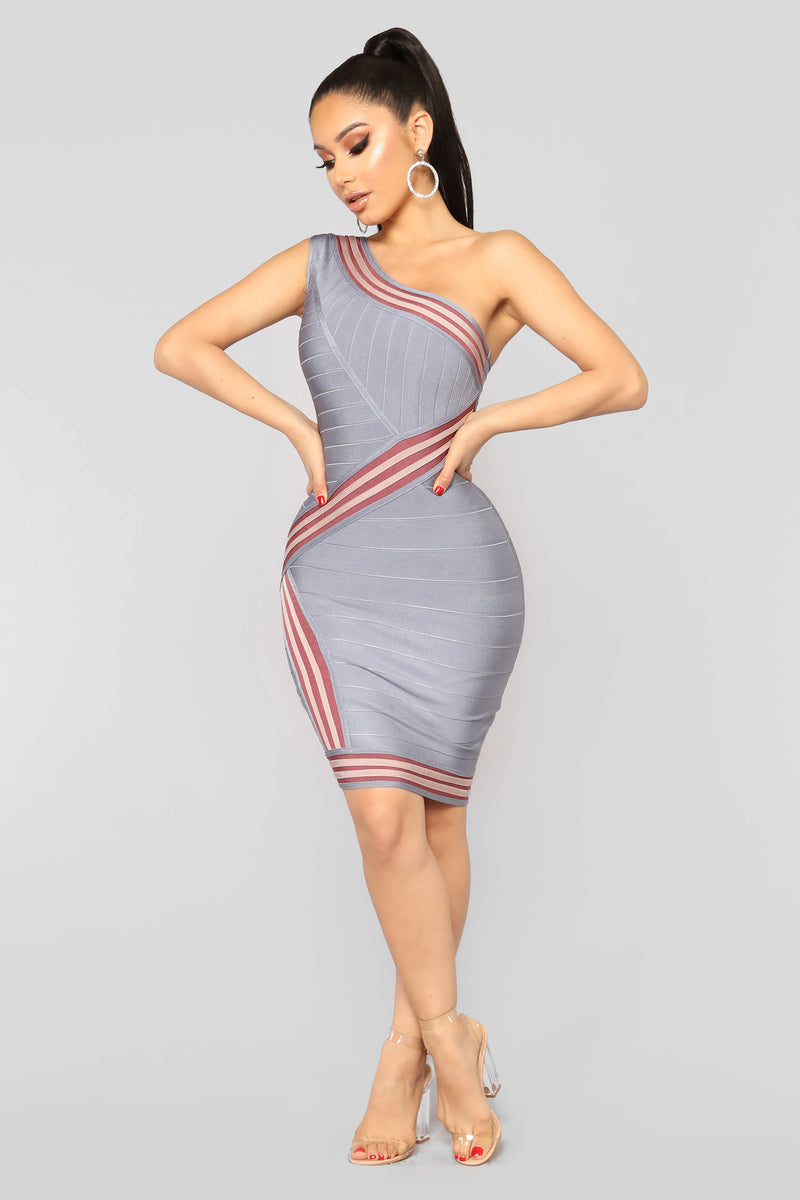 Always Winning Bandage Dress - Multi