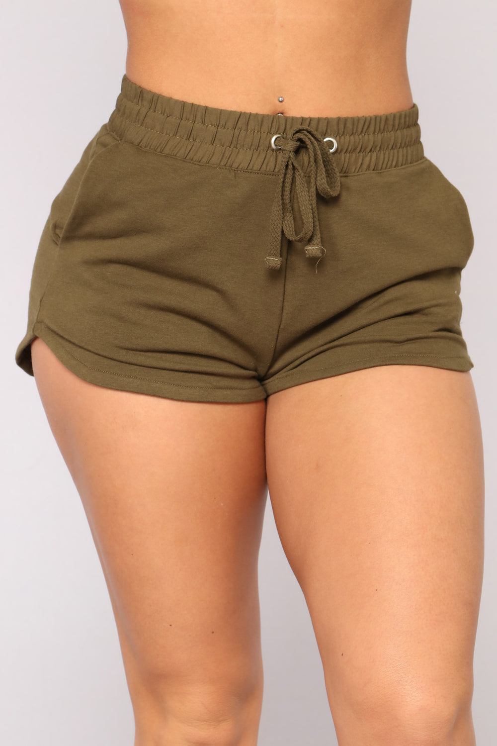 Still Chillin Dolphin Shorts - Olive