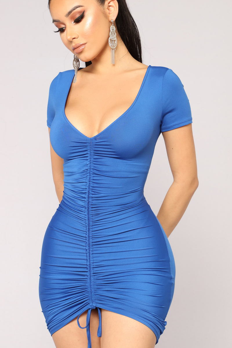 Blue Cocktail Dresses with Sleeves