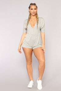 Bryden Romper - Heather Grey