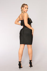 Heidi Bandage Skirt - Black