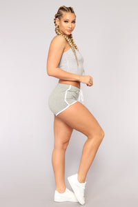 Not A Basic Bae Dolphin Shorts - Grey