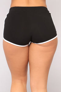 Playing Hookie Dolphin Shorts - Black