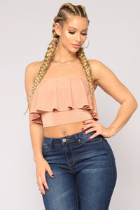 Make Some Noise Ruffle Top - Rust